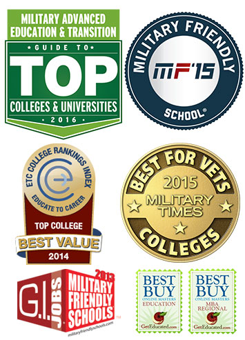 Southwestern College is recognized as a Top Military College, Military Friendly and a top Veteran College!