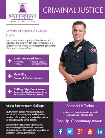 Criminal Justice colloge courses