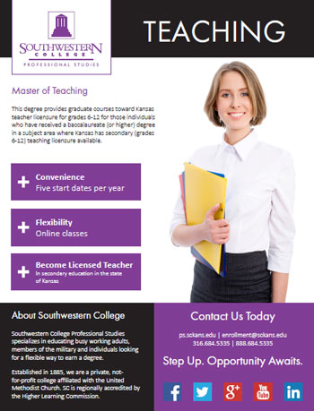 Online Masters In Education >> Master Of Arts In Teaching Southwestern College Professional Studies